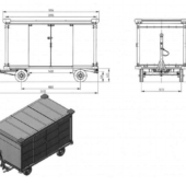 Багажные тележки закрытого типа